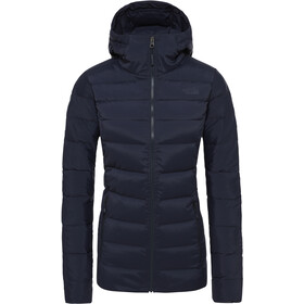 The North Face Stretch Down Hooded Jacket Women Urban Navy
